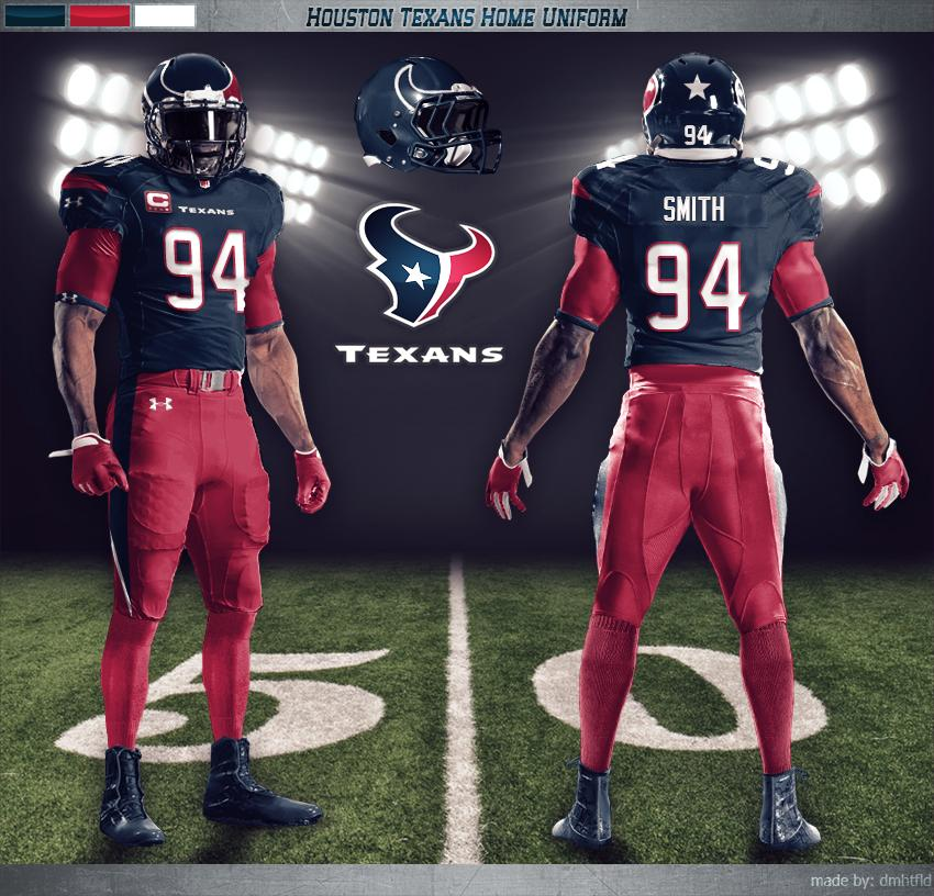 hot sale online 0d186 2a922 Under Armour's Concept Uniforms for the Texans - State of ...