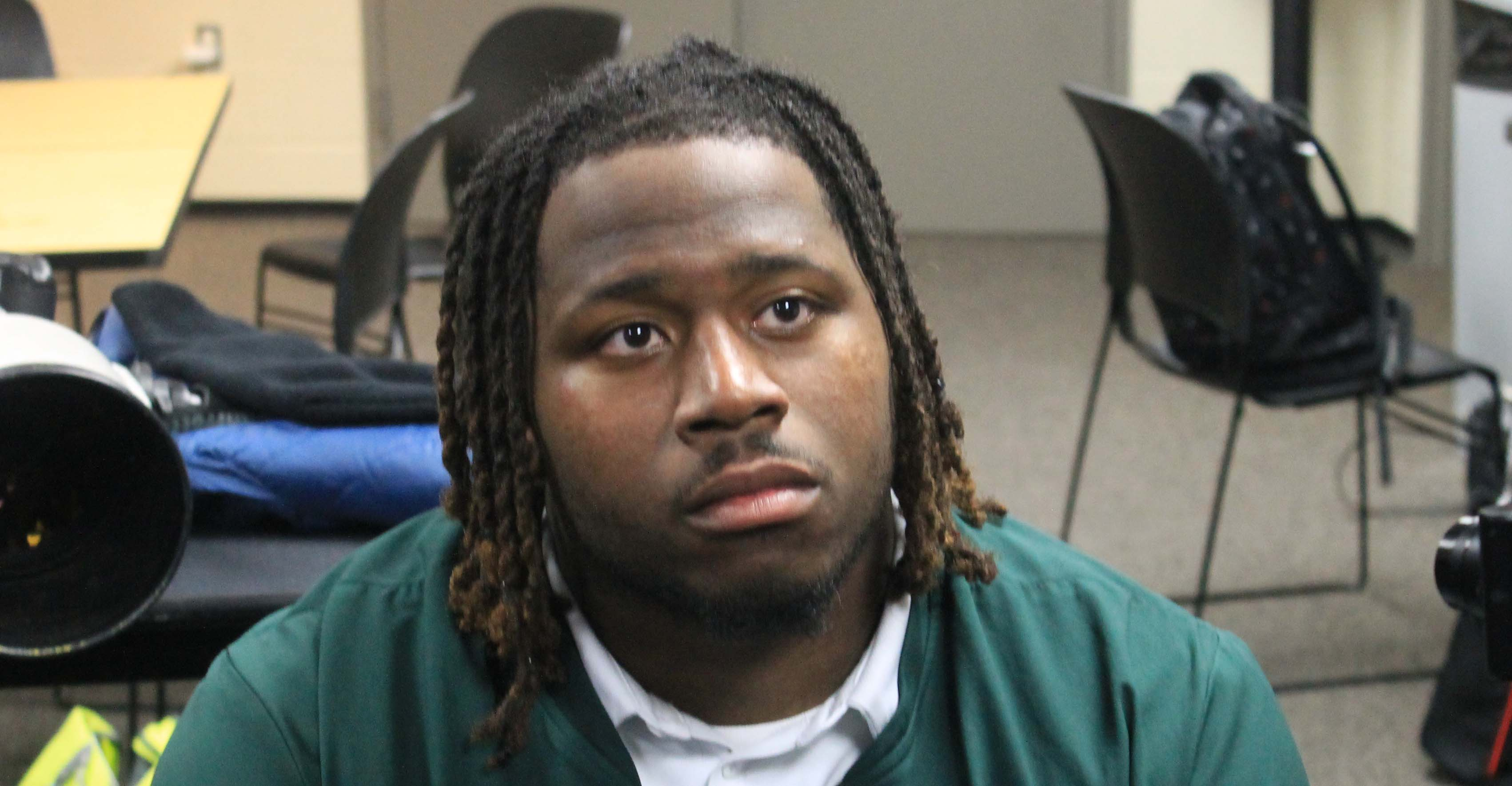 Michigan State DT Raequan Williams Post Loss to Wisconsin Badgers