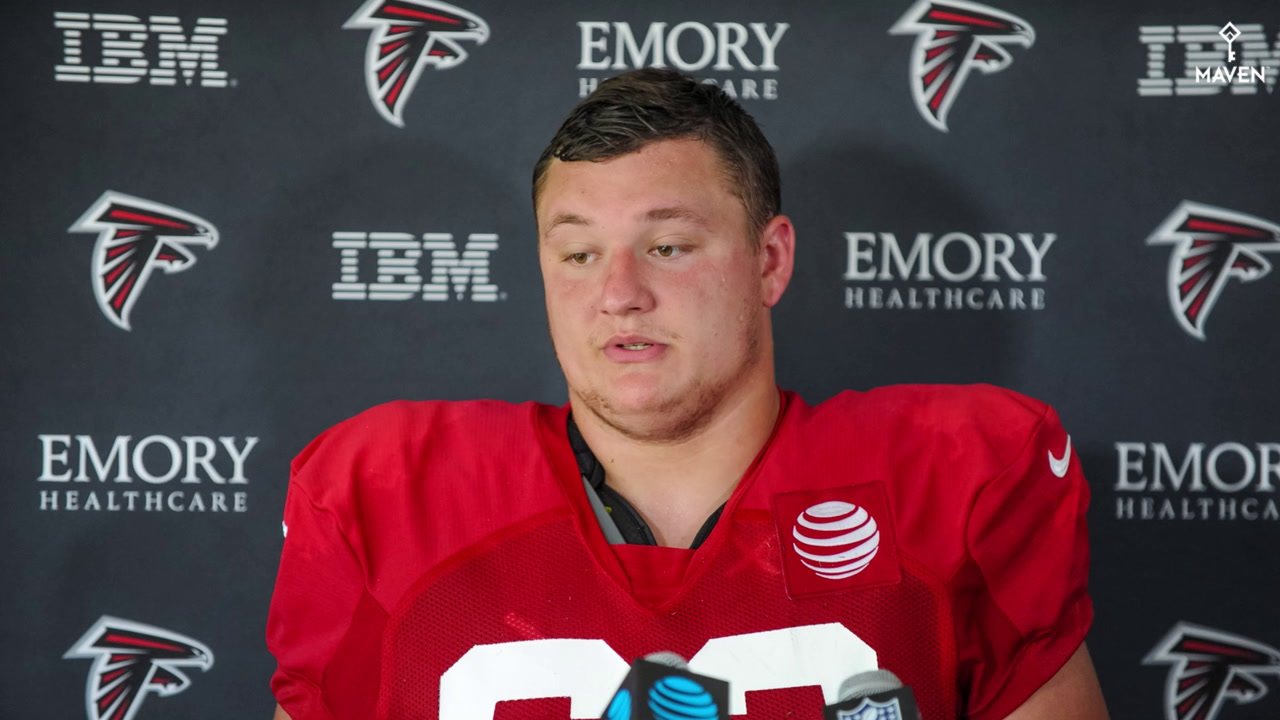 WATCH: Falcons first-round guard Chris Lindstrom should play again in 2019 if healthy