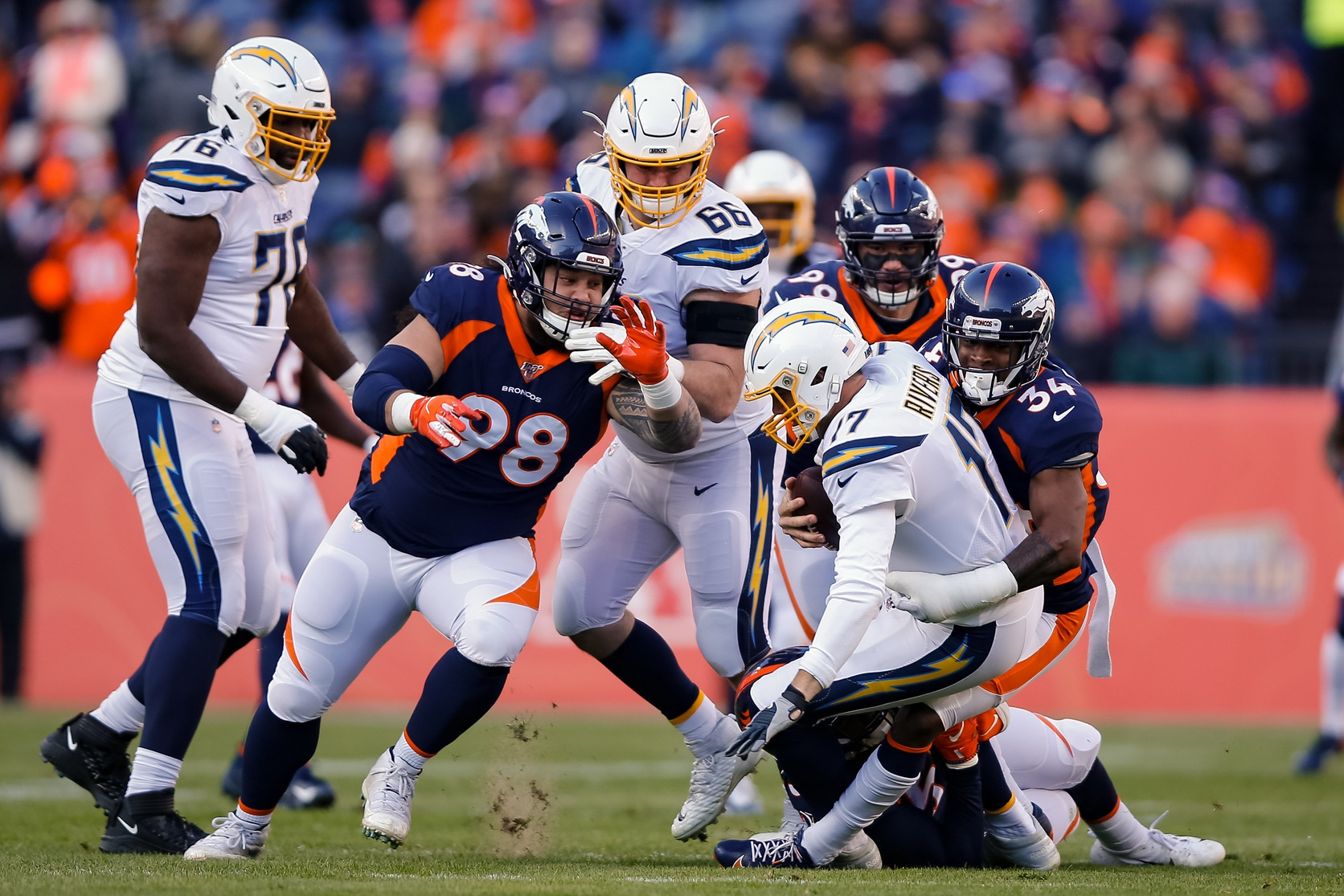Each of Broncos' Three Sacks on Rivers Came the Way Fangio Prefers