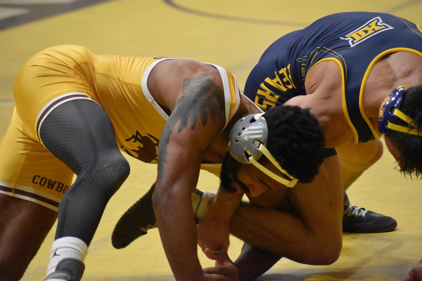 Cowboys' Montorie Bridges Claims 2nd Place in Cliff Keen Las Vegas Wrestling Invitational