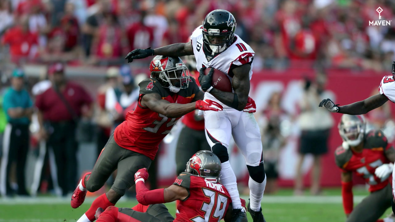 WATCH: Exciting plays highlight Falcons season-finale win over Buccaneers