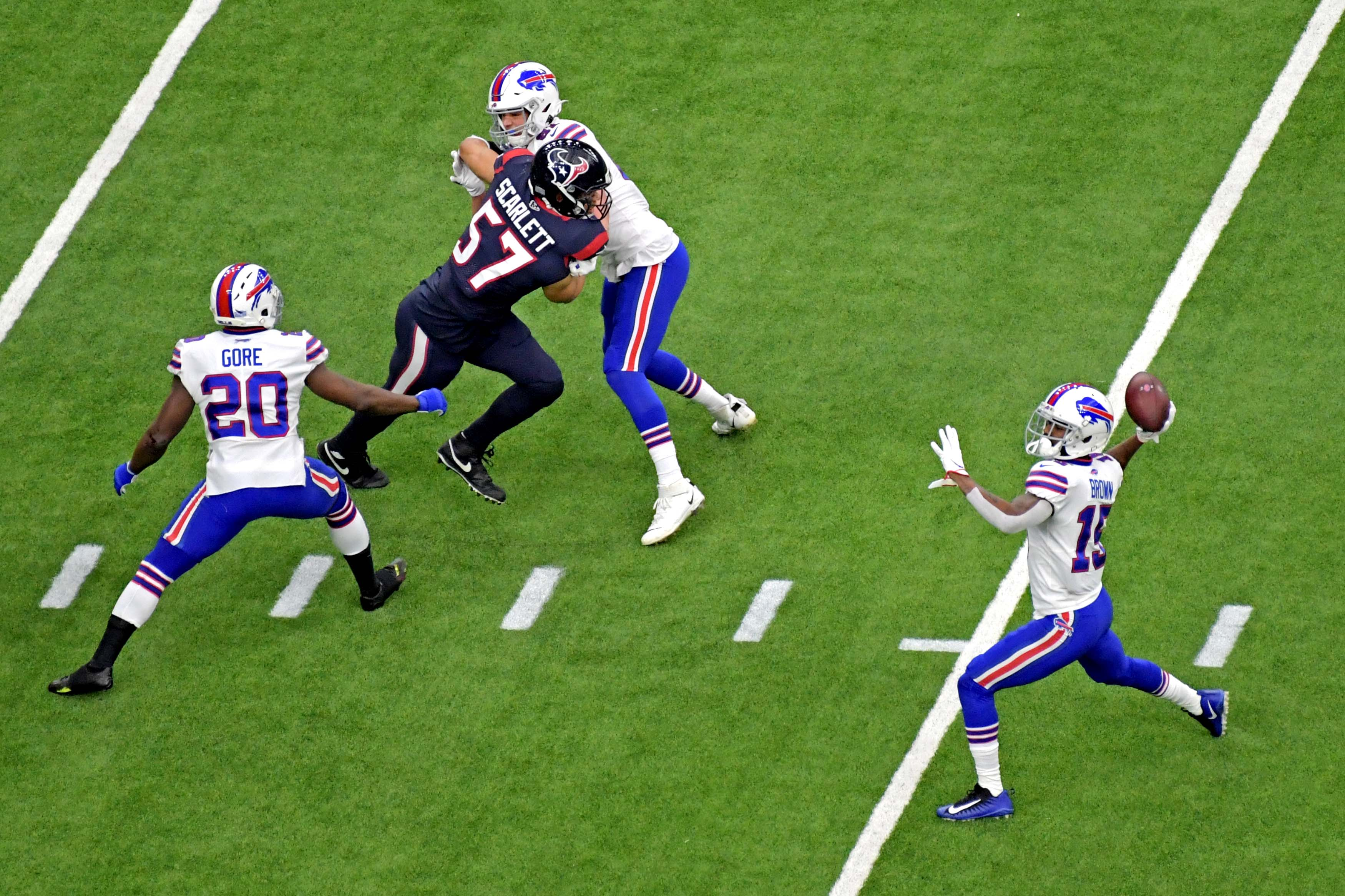 WATCH: Bills Use Trick Play From Brown To Allen For Touchdown In Wild Card Game