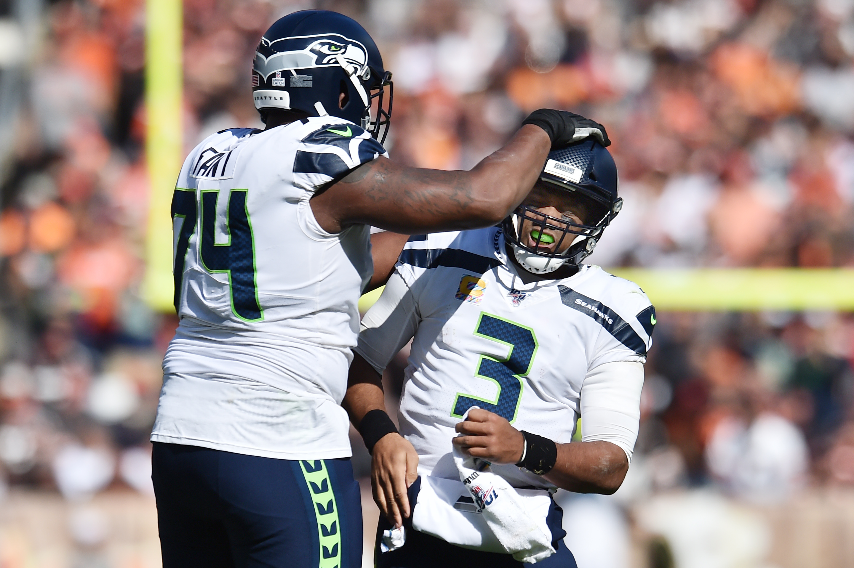 3 Starting Linemen Remain Sidelined at Seahawks Thursday Practice