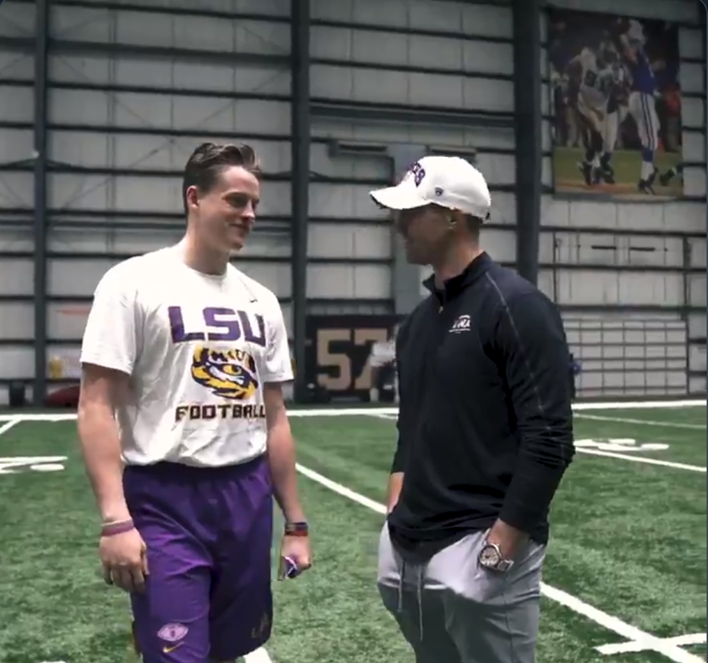 Brees and Burrow Meet ahead of National Championship Game