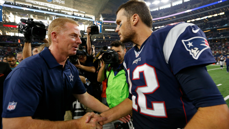 A Moment in Patriots History When Tom Brady Was To Grow Up To Be ... the Cowboys' Jason Garrett