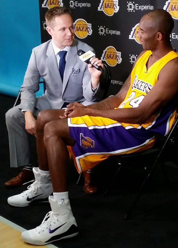 Kobe Bryant Wears Nike Kobe 9 White