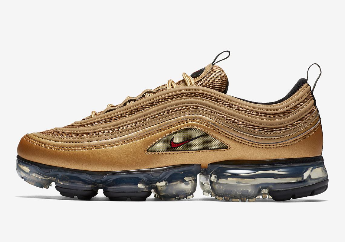 Metallic Gold Nike VaporMax 97