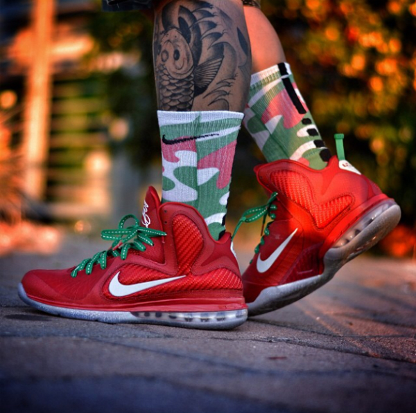 Christmas Lebron 9s.The Daily Photos 10 2 13