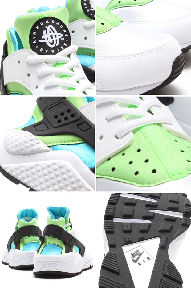 fantastic savings uk availability best service Nike WMNS Air Huarache White/Clearwater-Flash Lime
