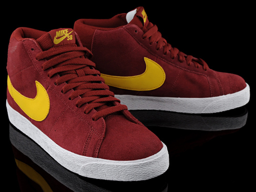 nike red and yellow shoes