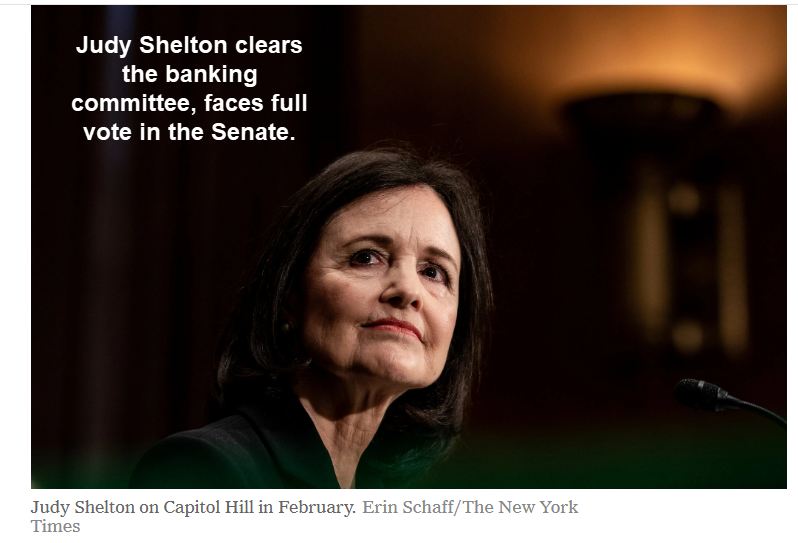 judy shelton clears the banking committee