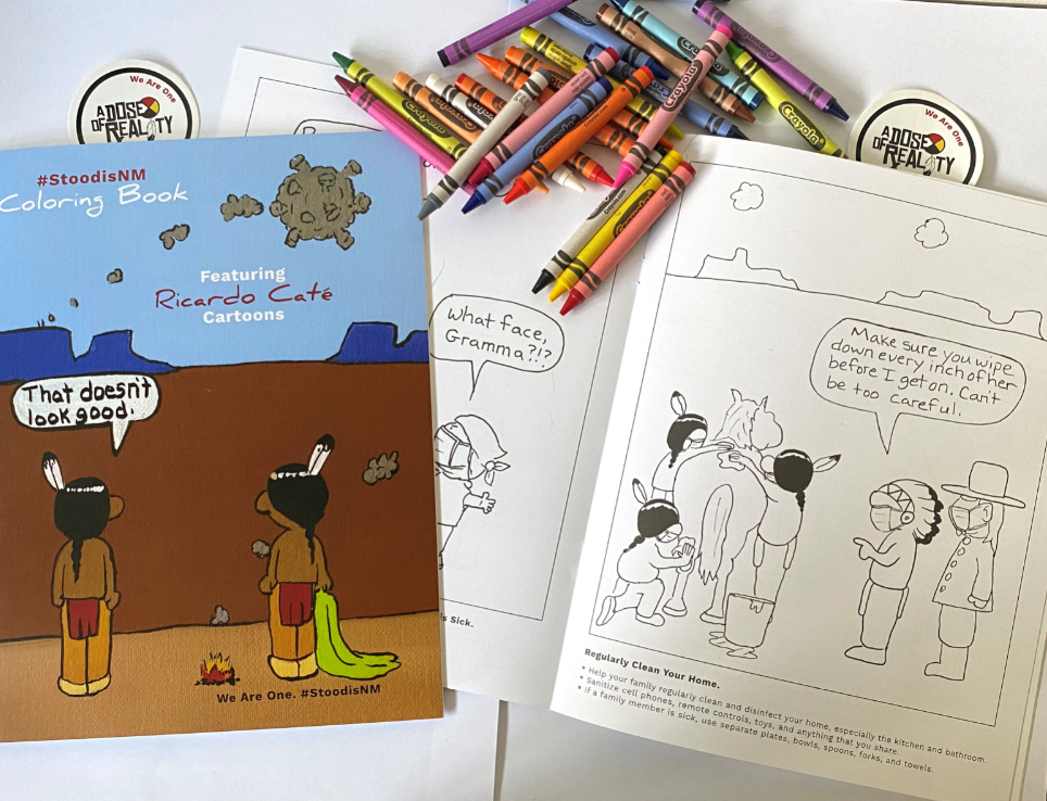 - New Mexico Develops Coloring Book To Address COVID-19 In Tribal Communities