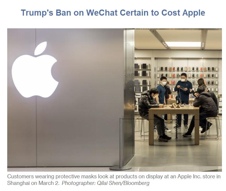 A guerra tecnológica de Trump com a China pode custar caro à Apple 2