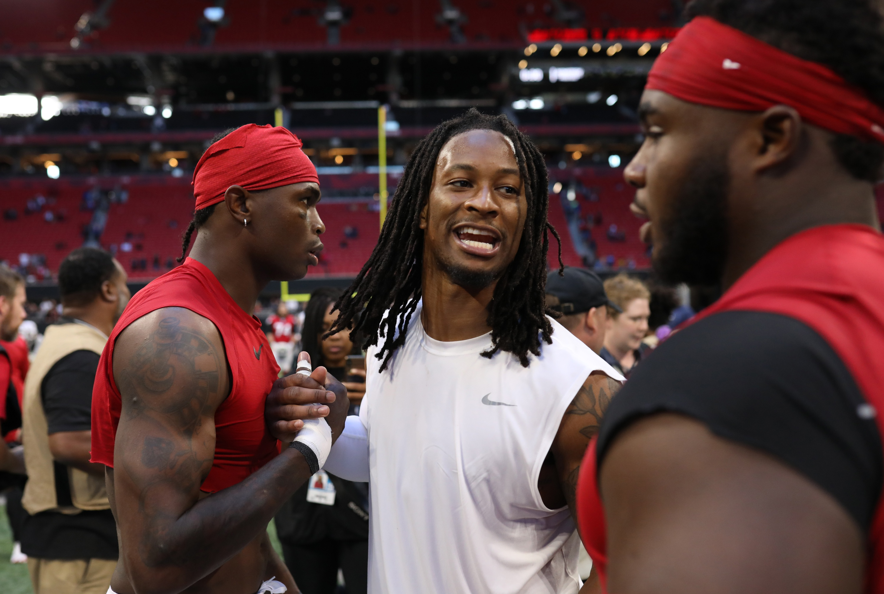 You Can Feel It How Matt Ryan And Julio Jones Believe Todd Gurley Ii Is A 2020 Difference Maker