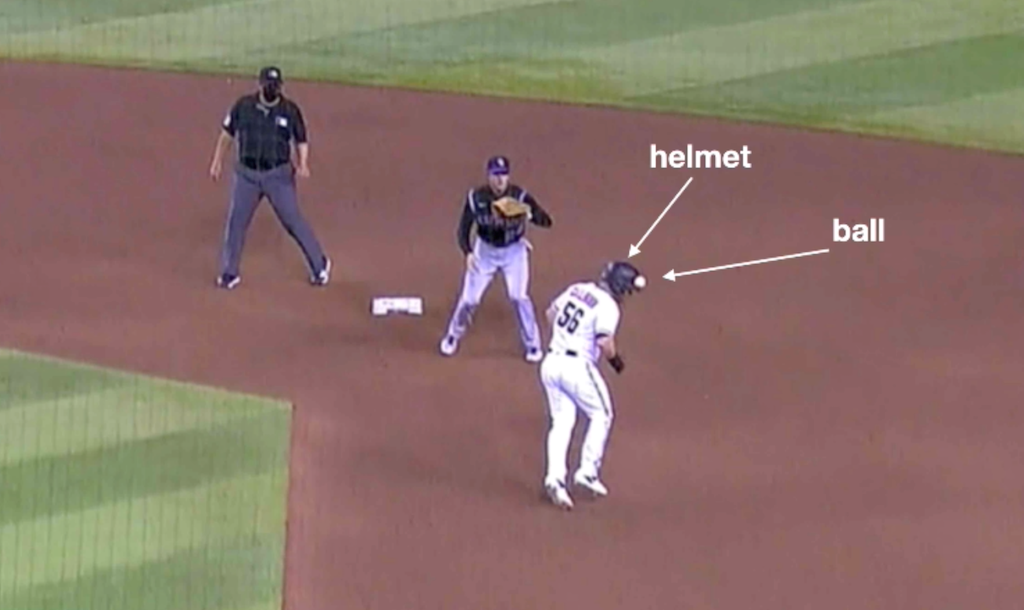 Baseball Rules Academy Runner S Interference When Runner Takes Throw Off His Head