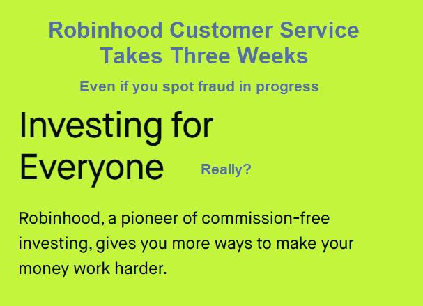 Contas Robinhood saqueadas e sem atendimento ao cliente para ligar 2