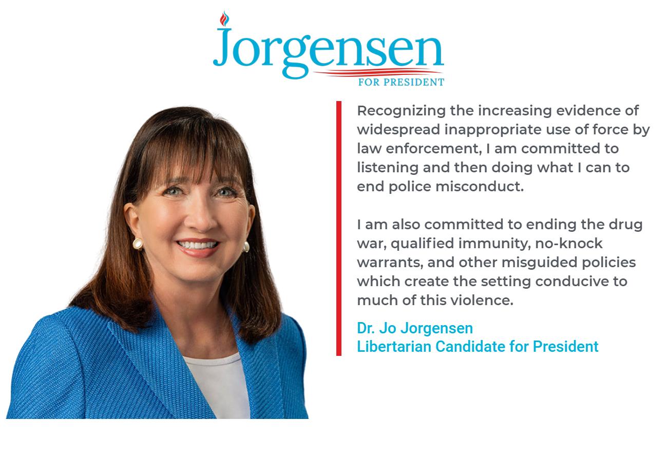 Apoio Jo Jorgensen para presidente 2