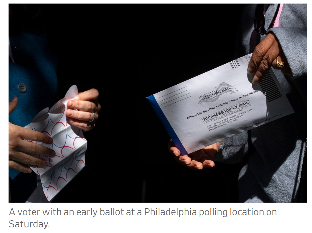 voter with early ballot
