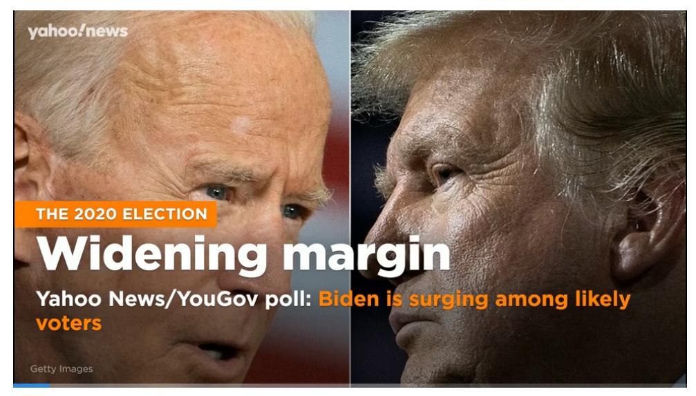 widening margin 2020 election
