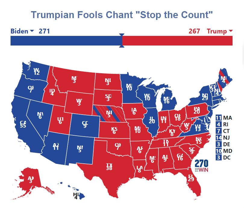trumpian fools chant stop the count