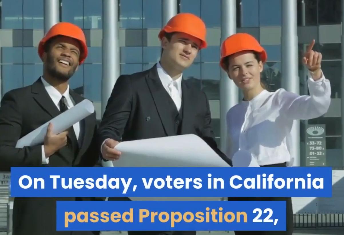 voters in california pass prop 22