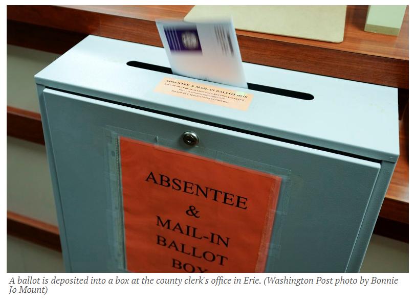 ballot is deposited