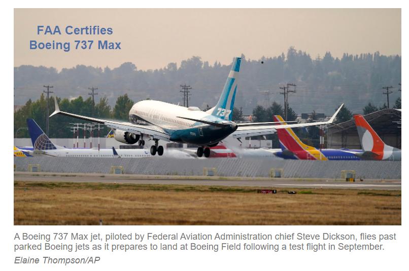 faa certifies boeing 737