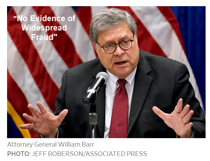 "Trump Tells Georgia Gov. to ""Call Off the Election"" as Barr Admits No Fraud"