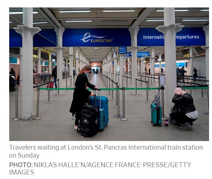 travelers waiting at london
