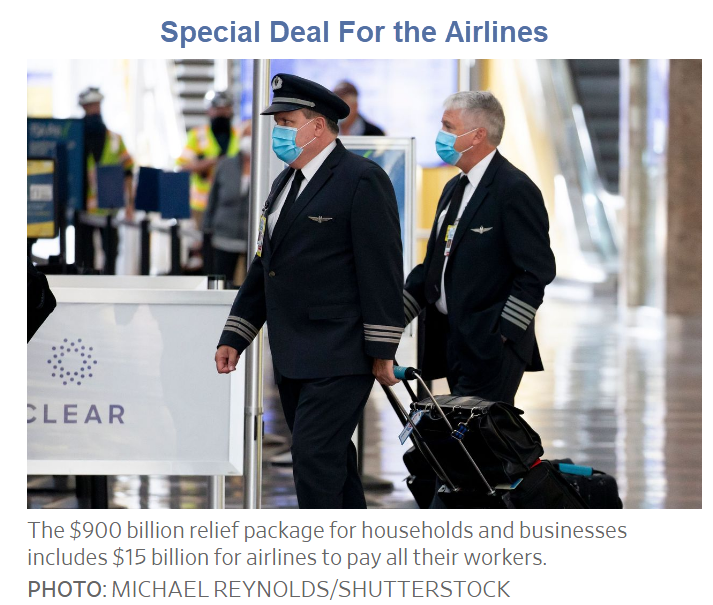 special deal for the airlines