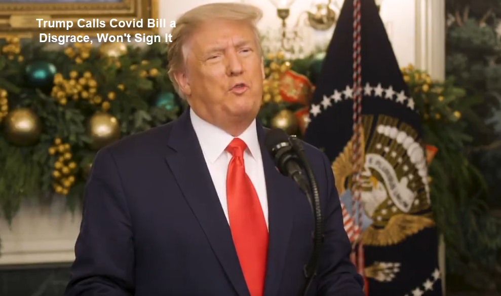 trump calls covid bill a  disgrace wont sign it