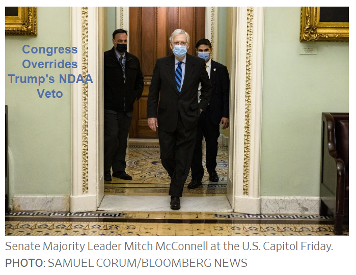 congress overrides trumps ndaa veto