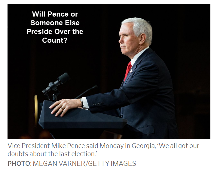 will pence or someone else preside over the count