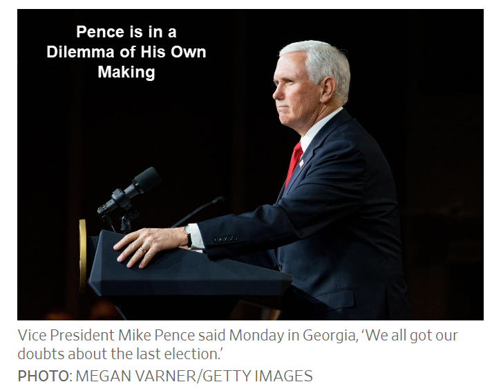 pence is in a dilemma of his own making