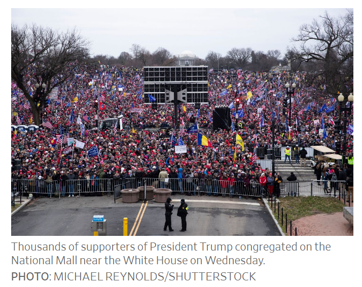 thousands of supporters trump
