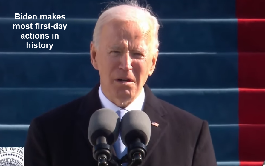 Biden's Most Ever First Day Executive Actions