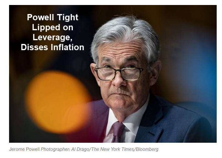 Powell Disses Inflation and Ignores Questions From Congress About Leverage