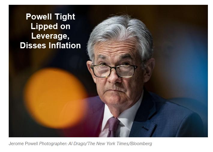 Powell discorda da inflação e ignora perguntas do Congresso sobre alavancagem 2
