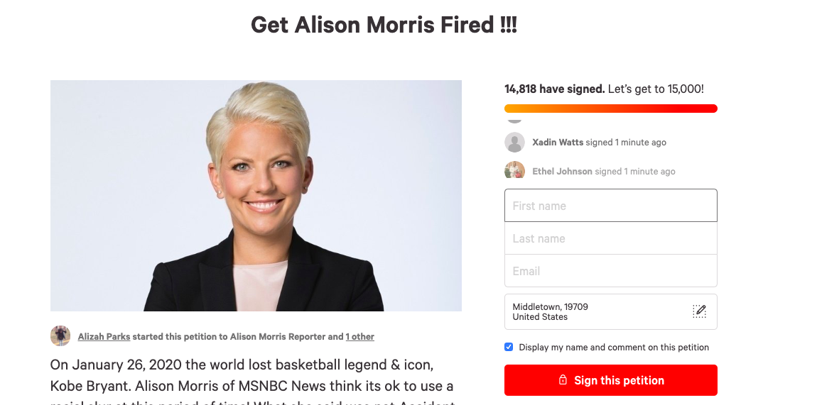 "MSNBC Anchor Denies Calling The Lakers The ""N-Word"""