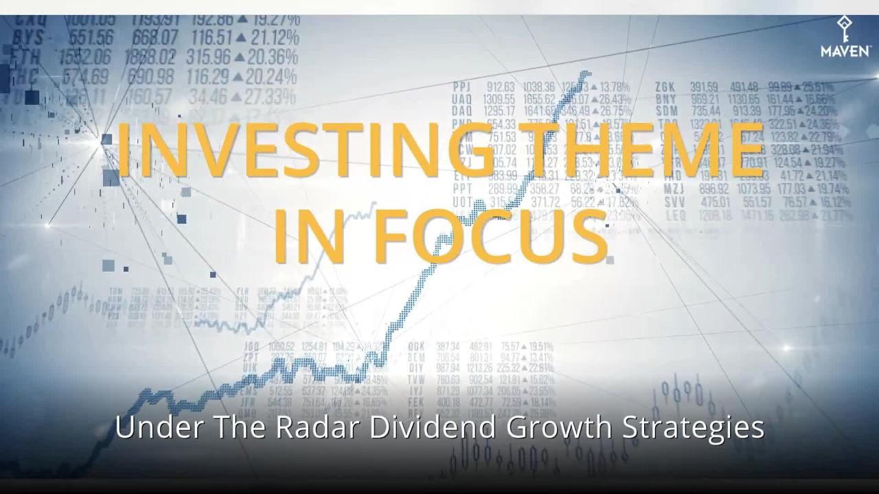 ETF Focus List: Under The Radar Dividend Growth Strategies