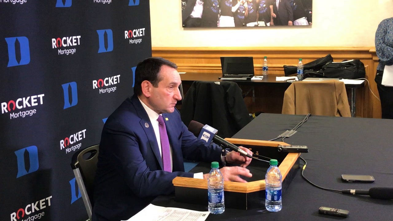 Coach K on Notre Dame-Duke Atmosphere: The Crowd and the Team Were One