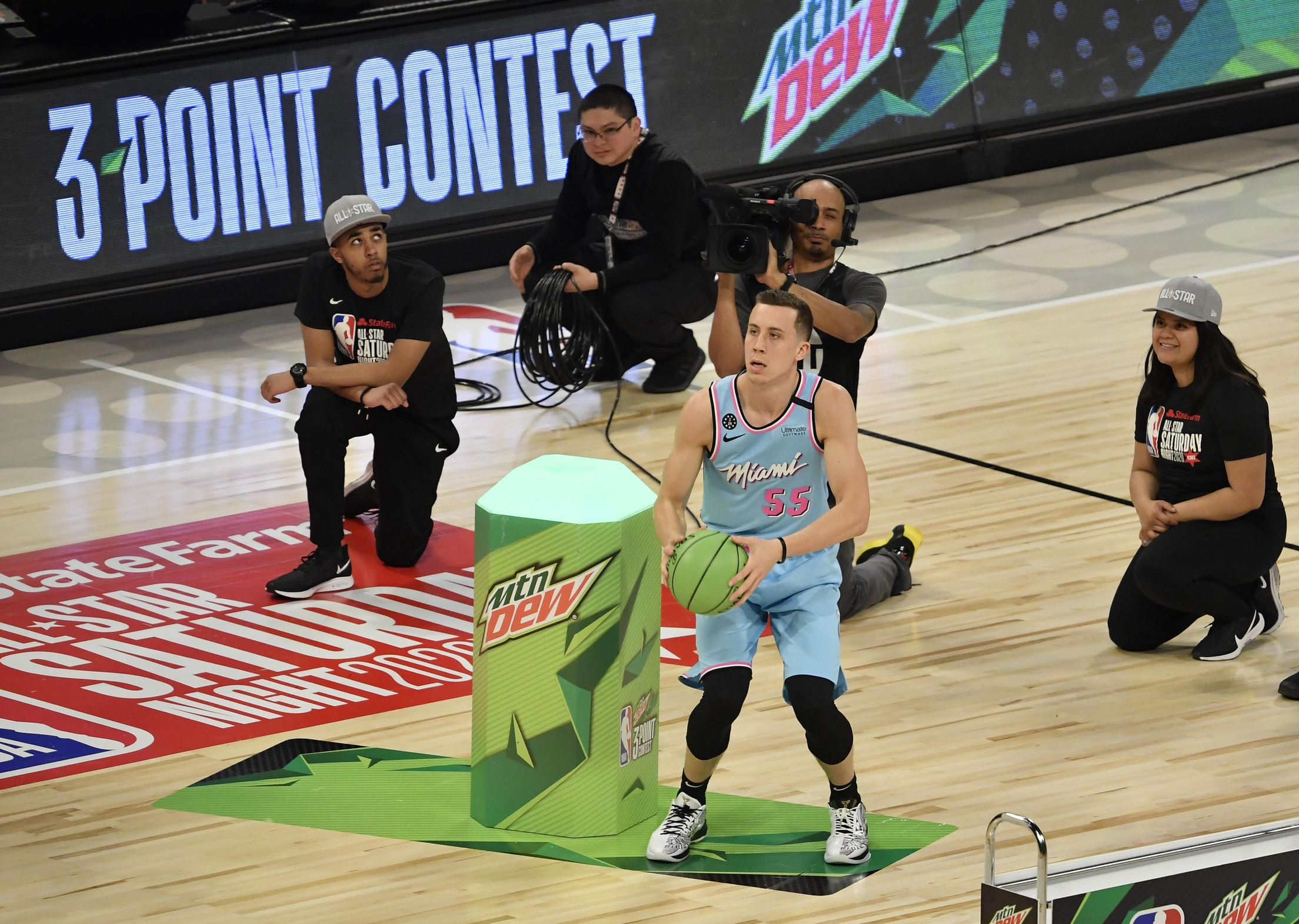 Heat forward Duncan Robinson bows out in the first round of 3-point contest
