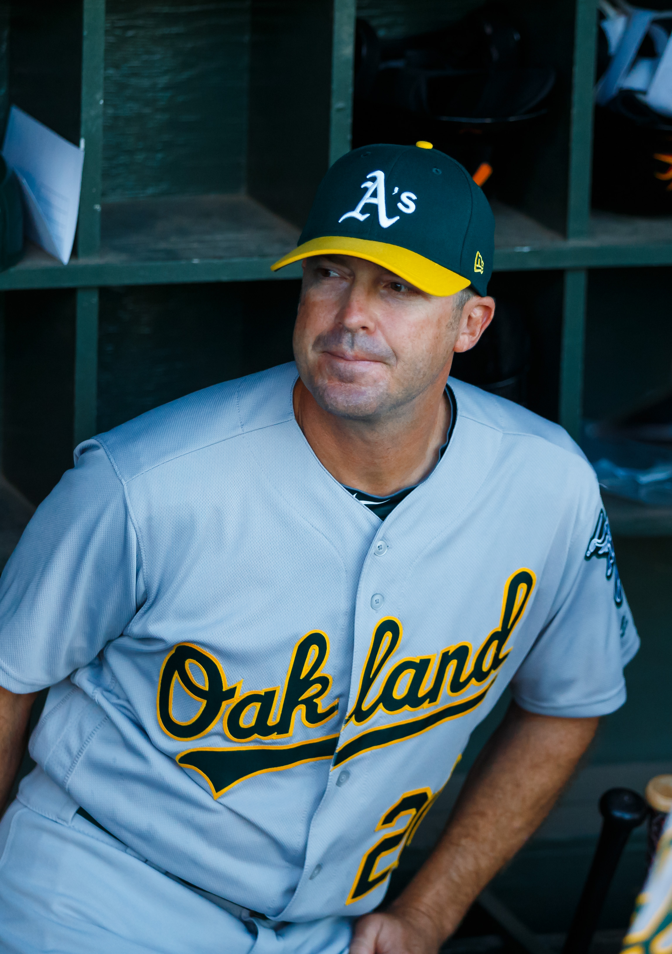 Athletics Bench Coach Christenson Sees Open Questions