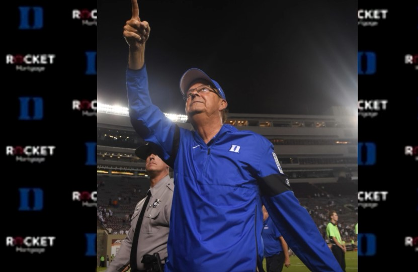 Duke's David Cutcliffe Falls Out of Top 25 in Coach Rankings