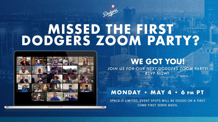 Dodgers Host 11 000 Fans In Inaugural Zoom Party