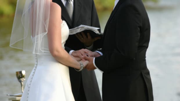 Choose wedding vows which are personal and reflect who you are as a couple.