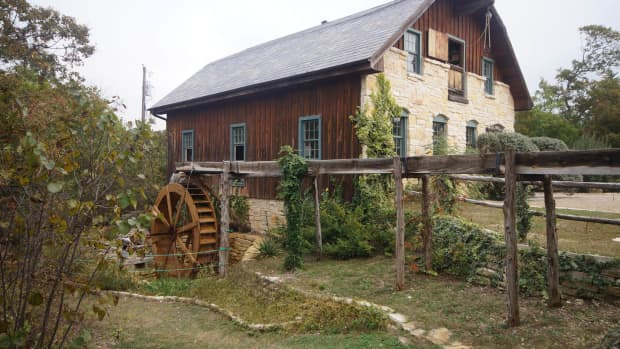 The gristmill at the Homestead Heritage, Waco, Texas.