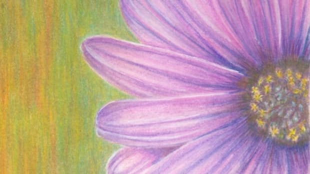 painting-flowers-with-colored-pencils