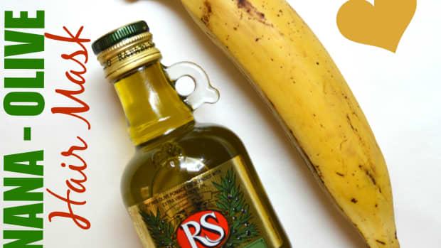 banana-olive-oil-hair-mask-for-damaged-hair